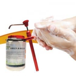 Savon mains microbilles