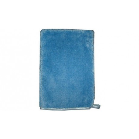 Gant microfibre bleu